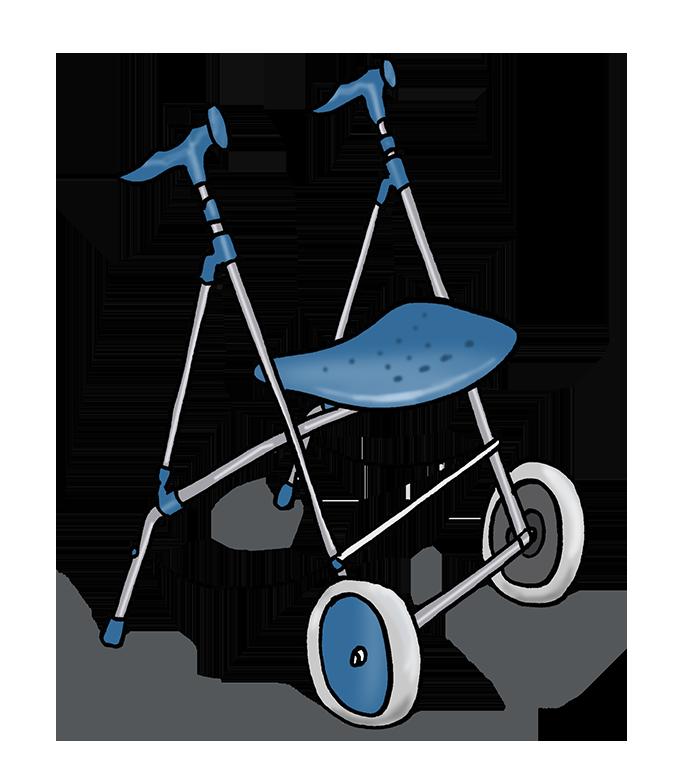 andadores dos ruedas