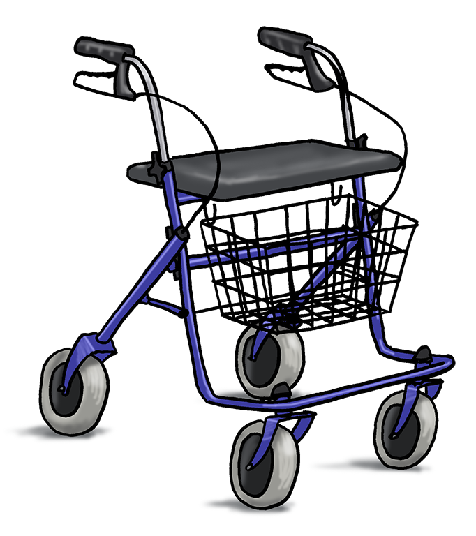 andadores cuatro ruedas