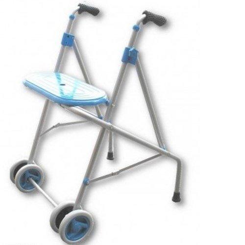 andador con ruedas dobles y asiento
