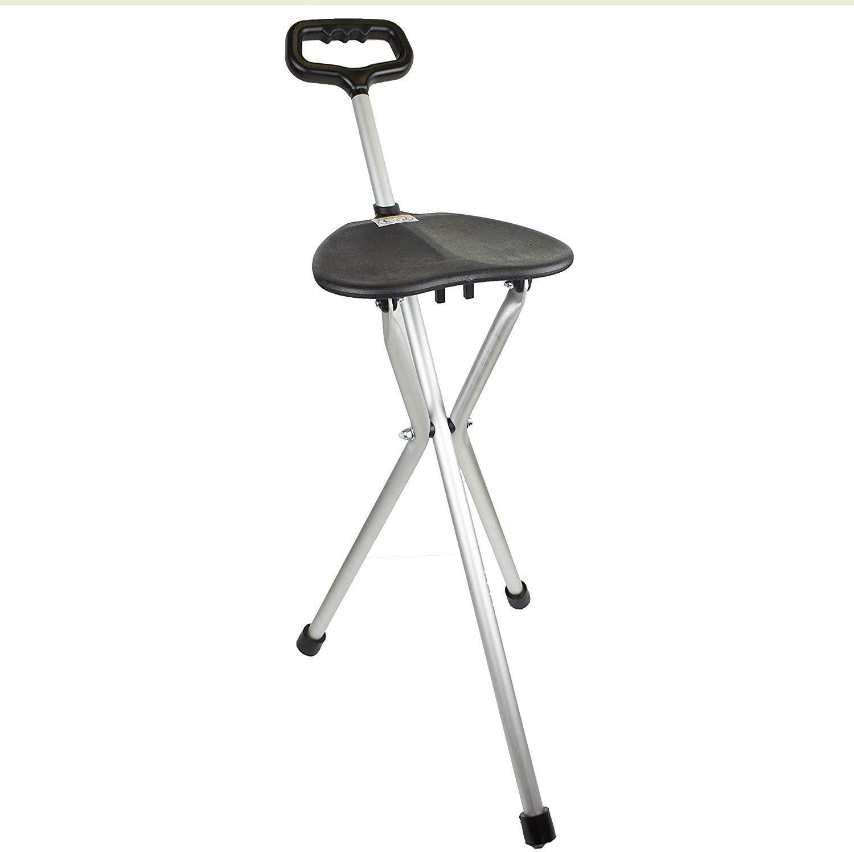bastón silla plegable