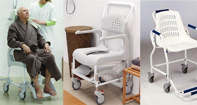 sillas de ducha con ruedas
