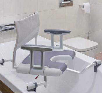silla baño giratoria
