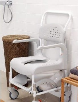 silla de ducha con ruedas