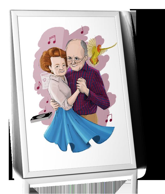 ilustración personalizada padres
